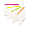 Post-it Tabs Angled Tabs, 2 x 1 1/2, Striped, Assorted Brights, 24/Pack