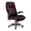 Mayline Leather Seating Series High-Back Swivel/Tilt Chair, Burgundy Leather