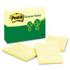 Recycled Notes, 4 x 6, Lined, Canary Yellow, 12 100-Sheet Pads/Pack