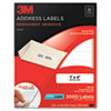 Permanent Adhesive White Laser Mailing Labels, 1 x 4, 2000/Pack