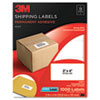 Permanent Adhesive White Laser Mailing Labels, 2 x 4, 1000/Pack