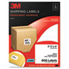 Permanent Adhesive White Laser Mailing Labels, 3-1/3 x 4, 600/Pack