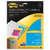 Removable ID Labels, 3-1/3w x 4h, Assorted Neon, 90 Labels/Pack