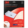 Permanent Adhesive Clear Inkjet Mailing Labels, 1 x 2-5/8, 750/Pack