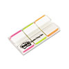 Post-it Tabs Durable File Tabs, 1 x 1 1/2, Striped, Assorted Fluorescent Colors, 66/Pack