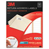 Permanent Adhesive White Mailing Label f/Laser Printers, 1/2 x 1-3/4, 8000/PK