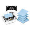 Pop-up Note Dispenser with Designer Insert, 3 x 3 Pad, Clear Acrylic