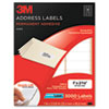 Permanent Adhesive White Laser Mailing Labels, 1 x 2-5/8, 3000/Pack