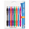 Profile Ballpoint Retractable Pen, Assorted Ink, Bold, 8 per Set