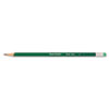 Paper Mate Earth Write Woodcase Pencil, HB #2, Green Barrel, Dozen