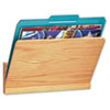 Wood Wall File Pocket, Legal/Letter, Oak