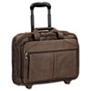 "15.6"" Rolling Laptop Case, Full-Grain Leather, 17 x 8 x 13-1/2, Espresso"