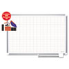 "MasterVision Grid Platinum Plus w/Accessories, 1x2"" Grid, 72x48, Aluminum"