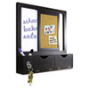 MasterVision Combo Dry Erase and Cork Station w/Storage, 16&quot; x 16&quot;, Black Frame