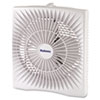 Personal Space Box Fan, Two-Speed, White