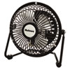 Mini High Velocity Personal Fan, One Speed, Black