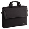 Laptop Slim Brief, Polyester, 15-3/4 x 2 x 11-3/4, Black