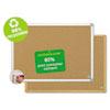 MasterVision Earth Cork Board, 18x24, Aluminum Frame