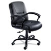 Safco Serenity Series Big & Tall Mid-Back Chair, Black Leather