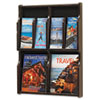 Safco 5704MH Expose Adj Magazine/Pamphlet 4-Pocket Display, 20w x 2-1/2d x 26-1/4h, Mahogany SAF5704MH SAF 5704MH