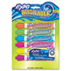 EXPO Washable Dry Erase Marker, Bullet Point, Assorted, 6 per Set
