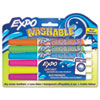 EXPO Washable Dry Erase Marker, Fine Point, Assorted, 6 per Set