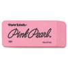 Paper Mate Pink Pearl Eraser, Large, 12/Box