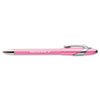 Paper Mate FlexGrip Elite Pink Ribbon Pen, Ballpoint, Retractable, Black Ink, Medium, Dozen