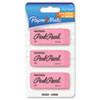 Pink Pearl Eraser, Medium, 3/Pack
