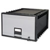 Archive Drawer for Legal Files Storage Box, 24&quot; Depth, Black/Gray