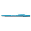 Paper Mate Ballpoint Stick Pen, Blue Ink, Fine, Dozen