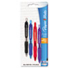 Profile Mini Ballpoint Retractable Pen, Assorted Ink, Bold, 4 per Pack