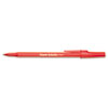 Paper Mate Ballpoint Stick Pen, Red Ink, Fine, Dozen