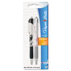 Paper Mate Ballpoint Retractable Design Pen, Black Ink, Medium, 2 per Pack