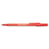 Paper Mate Ballpoint Stick Pen, Red Ink,Medium, Dozen