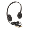 Personal Multimedia Stereo Headphones w/Volume Control, Black