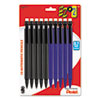 Pentel EZ#2 Mechanical Pencil, HB, 0.7 mm, 5 Black/5 Blue Barrels, 10/Pack