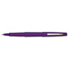 Paper Mate Point Guard Flair Porous Point Stick Pen, Purple Ink, Medium, Dozen
