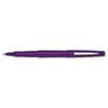 Paper Mate Point Guard Flair Porous Point Stick Pen, Purple Ink, Medium, Dozen