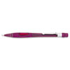 Pentel Quicker Clicker Mechanical Pencil, 0.9 mm, Transparent Burgundy Barrel