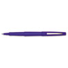 Paper Mate Point Guard Flair Porous Point Stick Pen, Blue Ink, Medium, Dozen