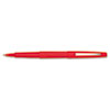 Paper Mate Point Guard Flair Porous Point Stick Pen, Red Ink, Medium, Dozen