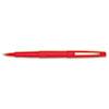 Paper Mate Point Guard Flair Porous Point Stick Pen, Red Ink, Medium, Dozen