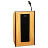Presidential Plus Wireless Lectern, 25-1/2w x 20-1/2d x 46-1/2h, Medium Oak