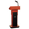 Exec. Adjustable Sound Column Lectern, Wireless, 21w x 15d x 46-1/2h, Mahogany