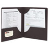 Smead Lockit Two-Pocket Folder, Leatherette Stock, 11 x 8-1/2, Black, 25/Box