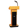 Exec. Adjustable Sound Column Lectern, Wireless, 21w x 15d x 46-1/2h, Medium Oak