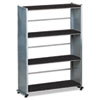 Eastwinds Accent Shelving, Four Shelves, 31-1/4w x 11d x 44-1/2h, Anthracite