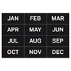 Calendar Magnetic Tape, Months Of The Year, Black/White, 2&quot; x 1