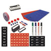 Magnetic Board Accessory Kit, Blue/Red